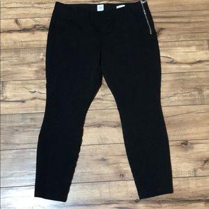 GAP heavy leggings with side zipper